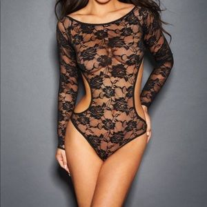 Brand New-Sexy Allover Lace Open Back Teddy